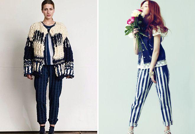 З чим носити штани з лампасами взимку. Жіночі брюки з лампасами. Як ... 9fc31f7fc4db6