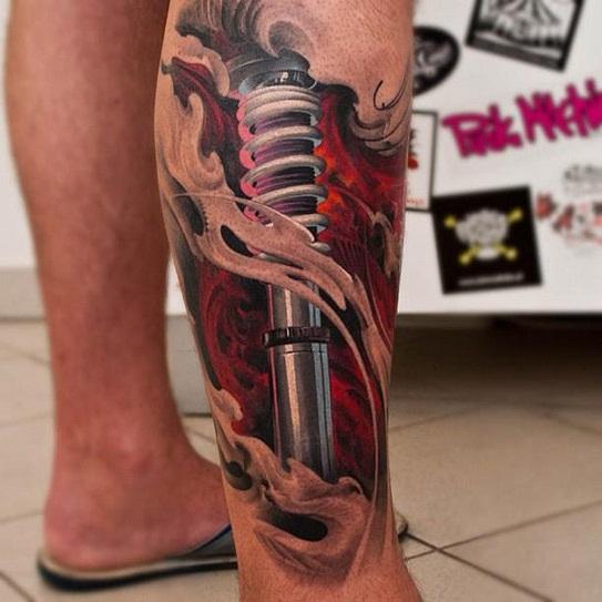 Tetovaža Na Desnoj Nozi Muške Tetovaže Na Nogama Teške