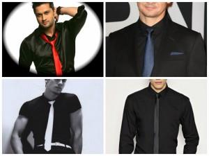 Crna košulja s ljudima koji nose. S onim što je bolje nositi crnu košulju  ili bluzu. Svakodnevne, a ne samo slike
