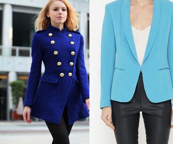 Білі штани синій піджак жіночий. З чим носити синій піджак  правила ... ebbf4061cf42d